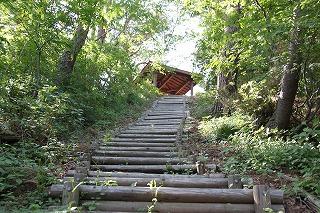 剛台展望台階段登り